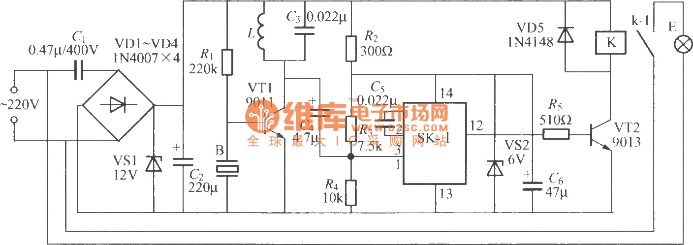 The Subsonic Remote Control Lamp Switch Circuit 1