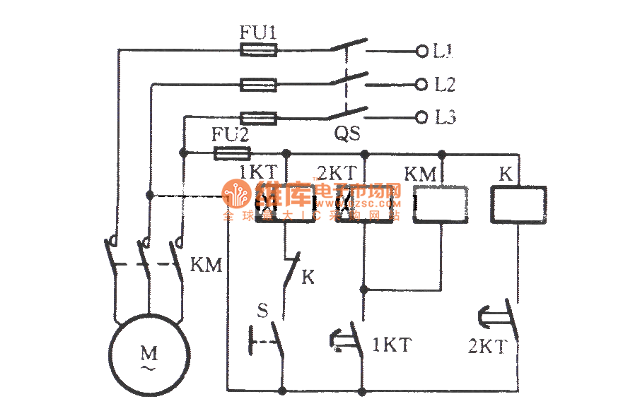 the interval operational circuit of starting time delay - control circuit