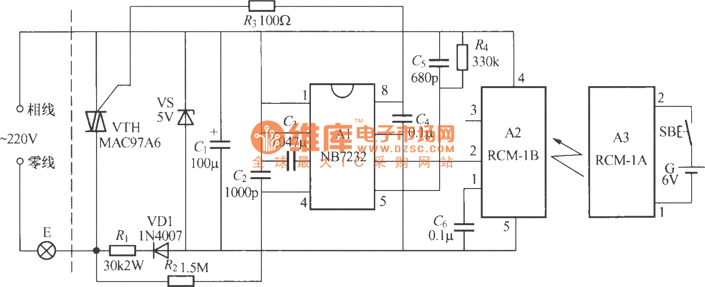 radio remote control dimmer circuit
