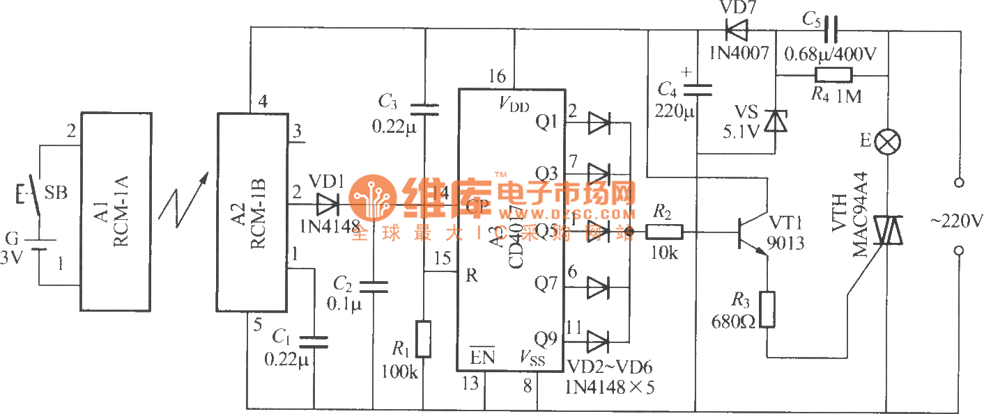 radio remote control lamp switch circuit led_and_light_circuitradio remote control lamp switch circuit