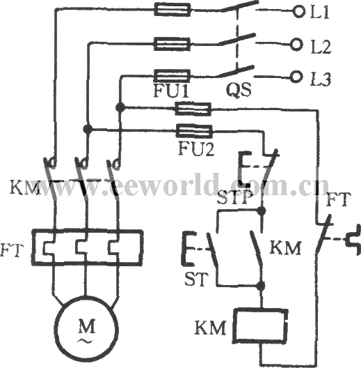 Thermal relay overload protection circuit on ac contactor wiring diagram