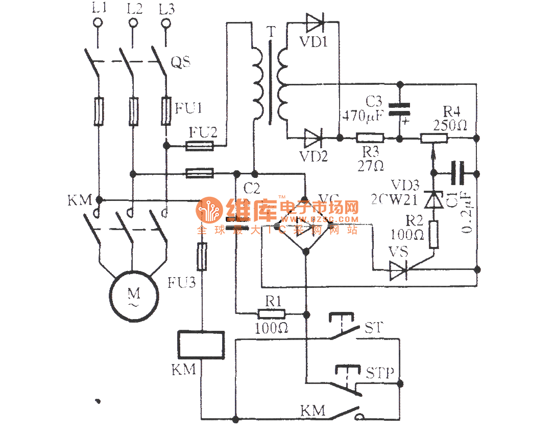 the thyristor broken phase protection circuit