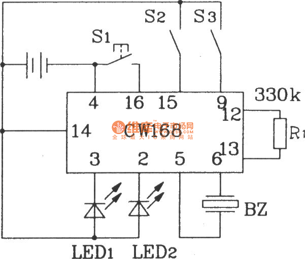 the new style flashing alarm integrated application circuit - control circuit