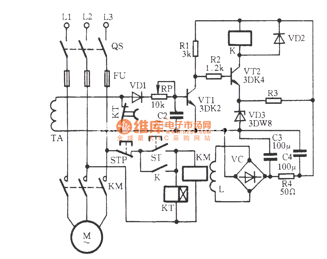 zero sequence current phase protection circuit