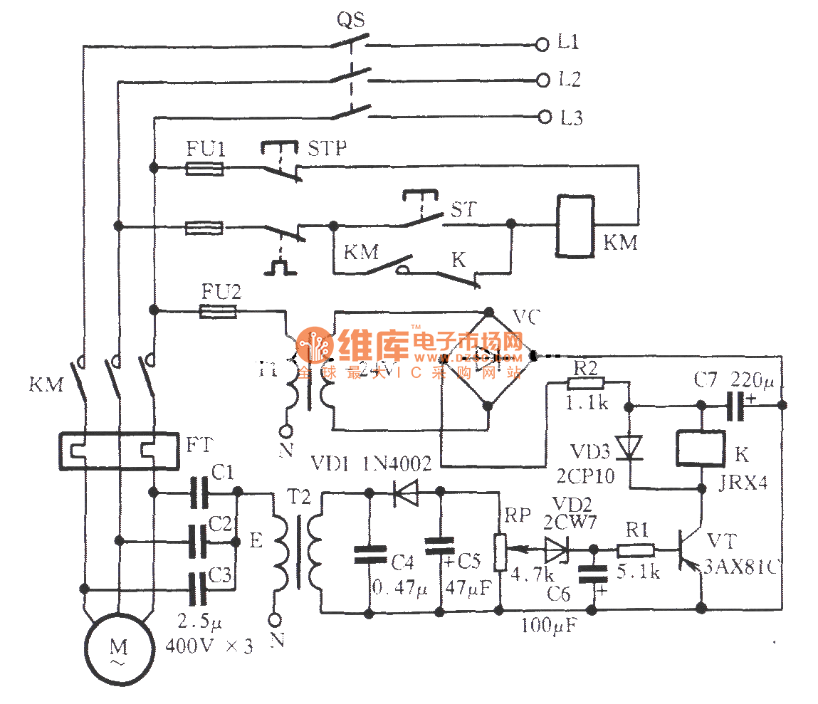 Zero Sequence Voltage Off Phase Protection Circuit Relay Control Output Measuringandtestcircuit Diagram Seekiccom