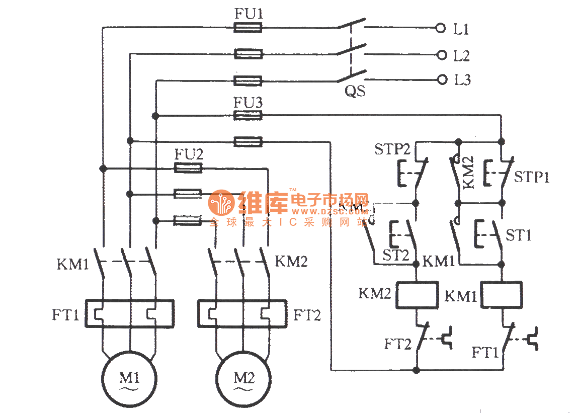 Two Electric Motors For Sequential Parking Circuit Relay