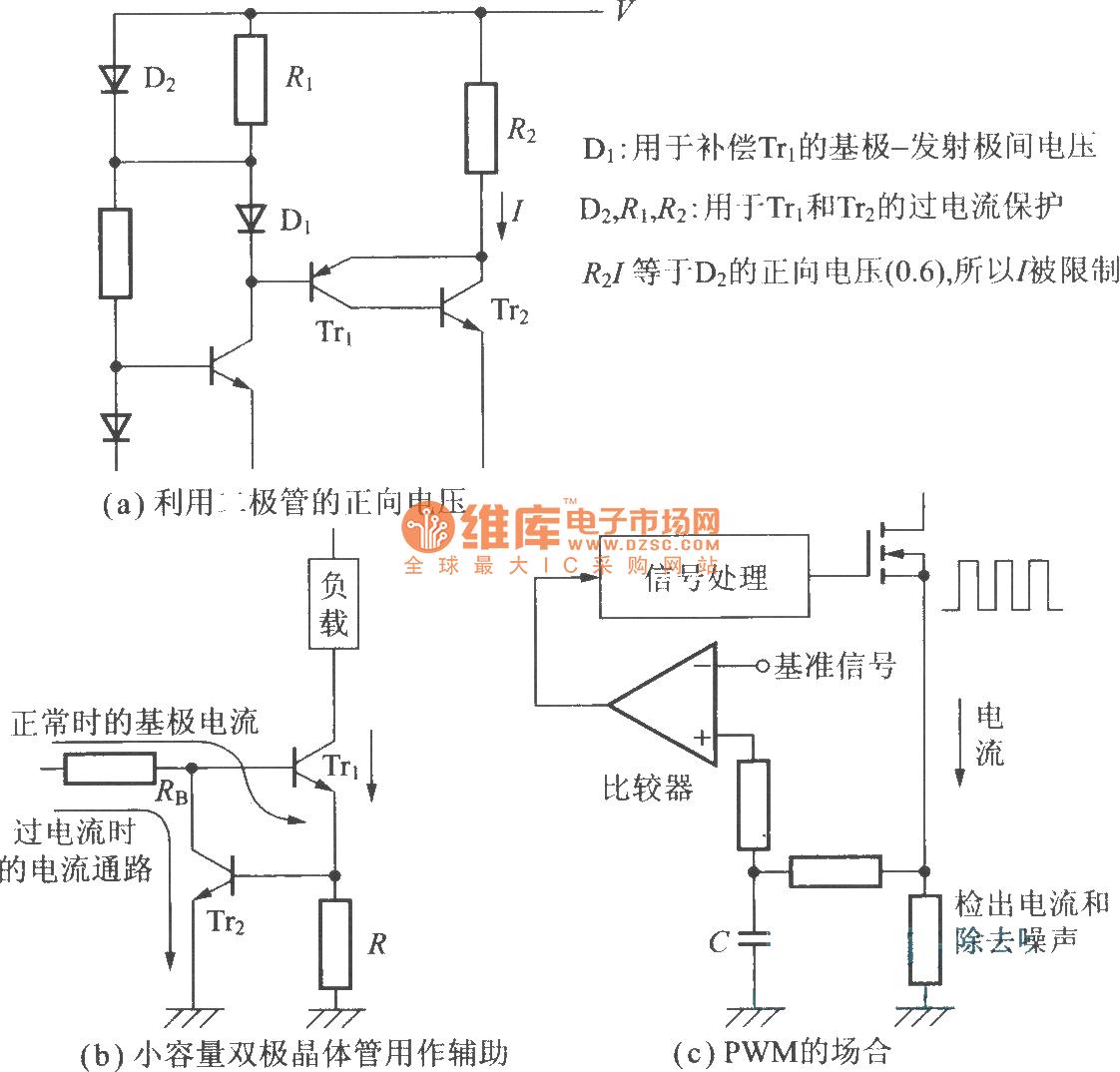 R C Time Constant Circuit Diagram: The Over-current Precaution Circuit (current Limiting