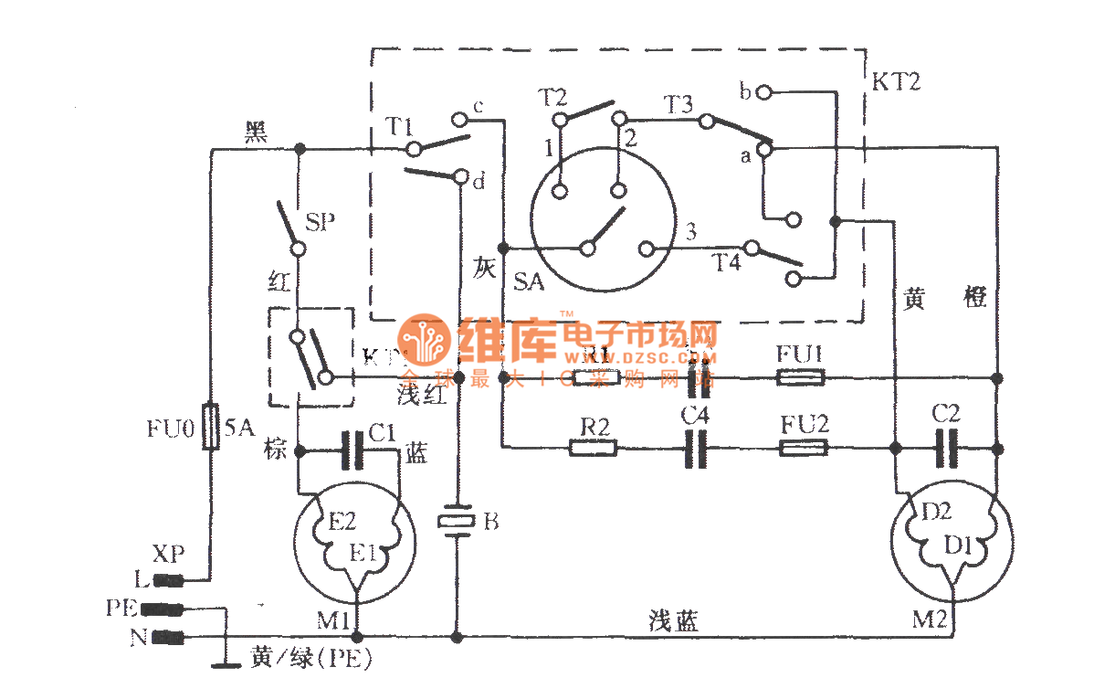 Wiring Diagram For Washing Machine Maytag Motor Super Asia Rongshida Xpb50 L88s Tube Circuit