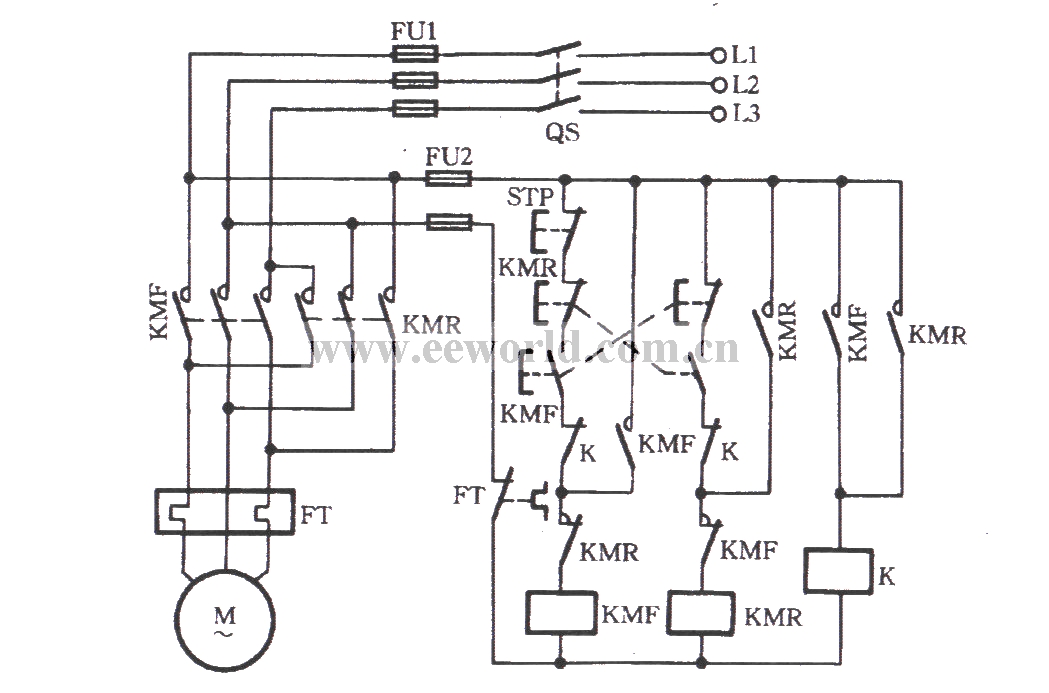 Three Phase Motor With A Relay For Inverting Circuit