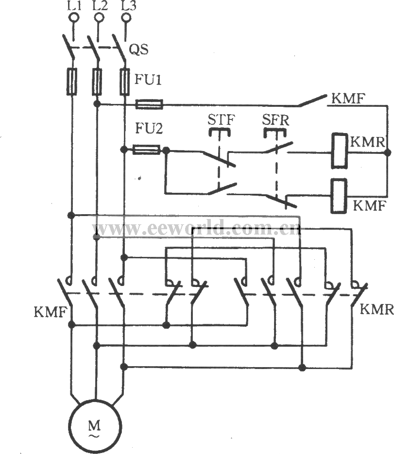 3 Phase Brake Motor Wiring Diagram : Phase reversible ac motor schematic get free image