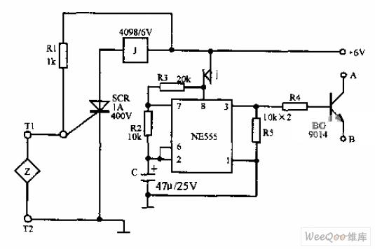 telephone burglar alarm circuit