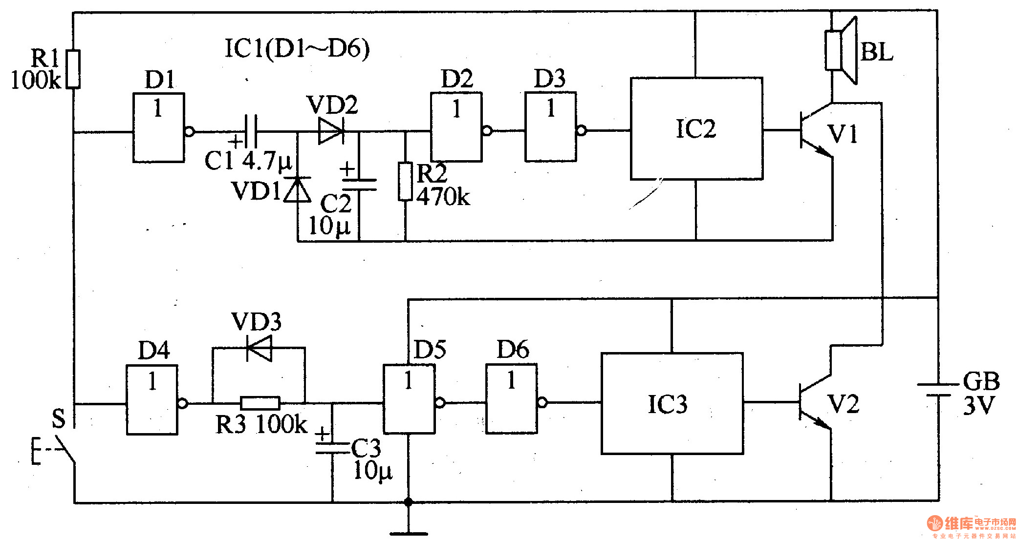 Visitors Identifying Electronic Doorbell Circuit Diagram Of Door Bell