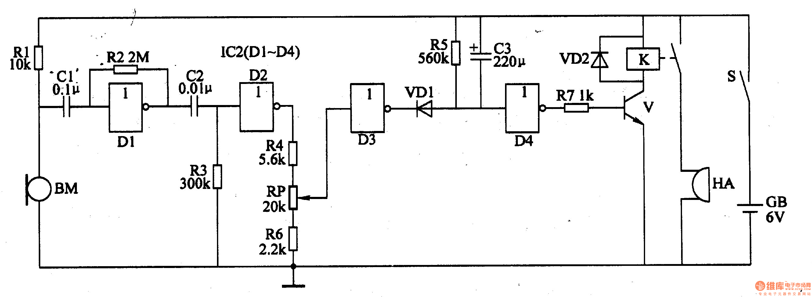 chicks hatched informing device 3 - electrical equipment circuit - circuit diagram