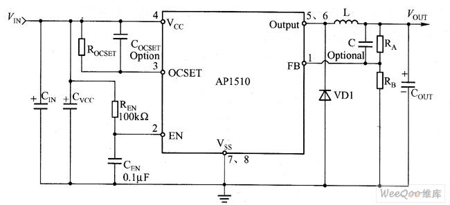 ap1510 typical application circuit diagram - basic circuit - circuit diagram