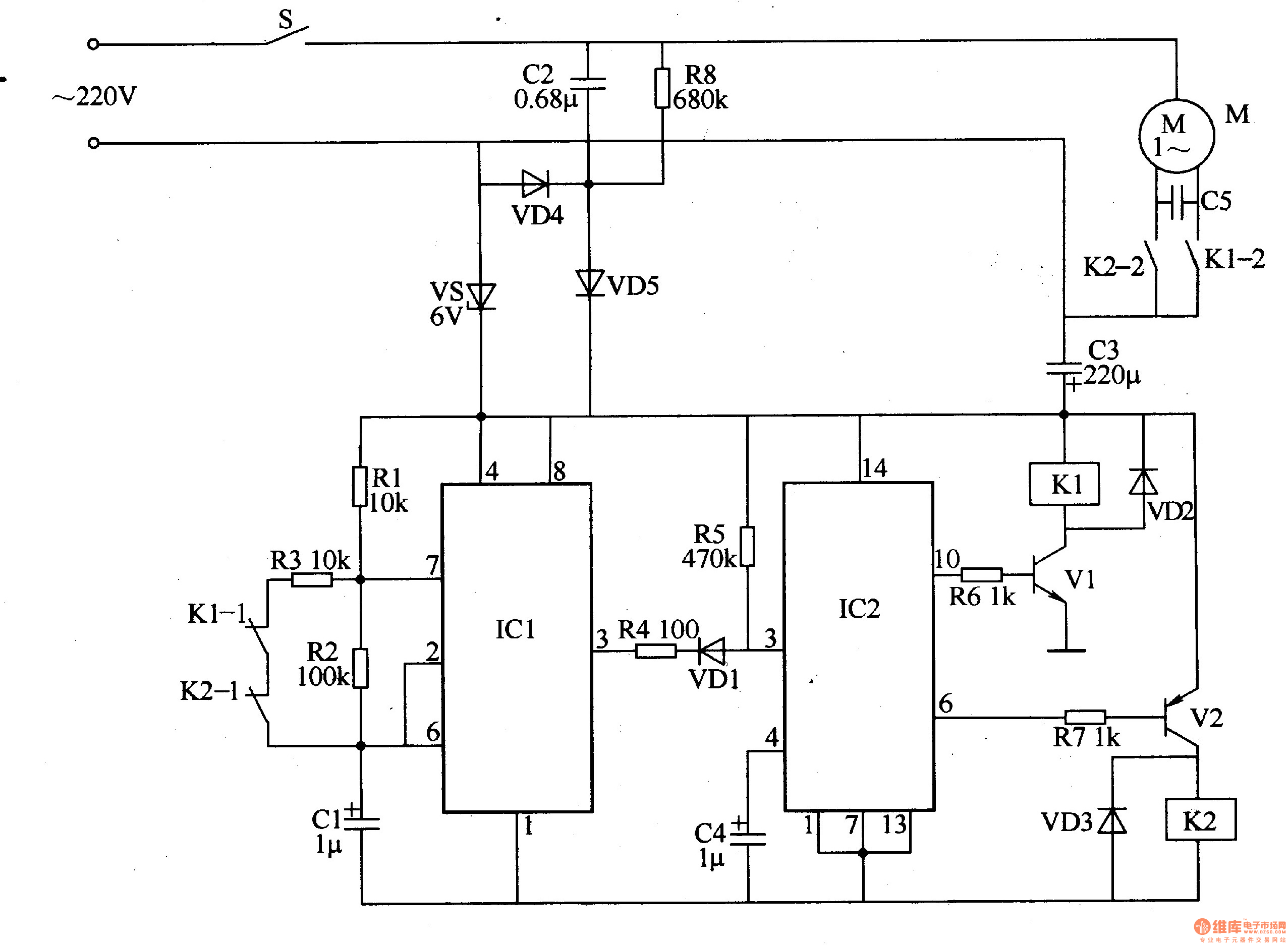 Washing machine electronic program controller ControlCircuit