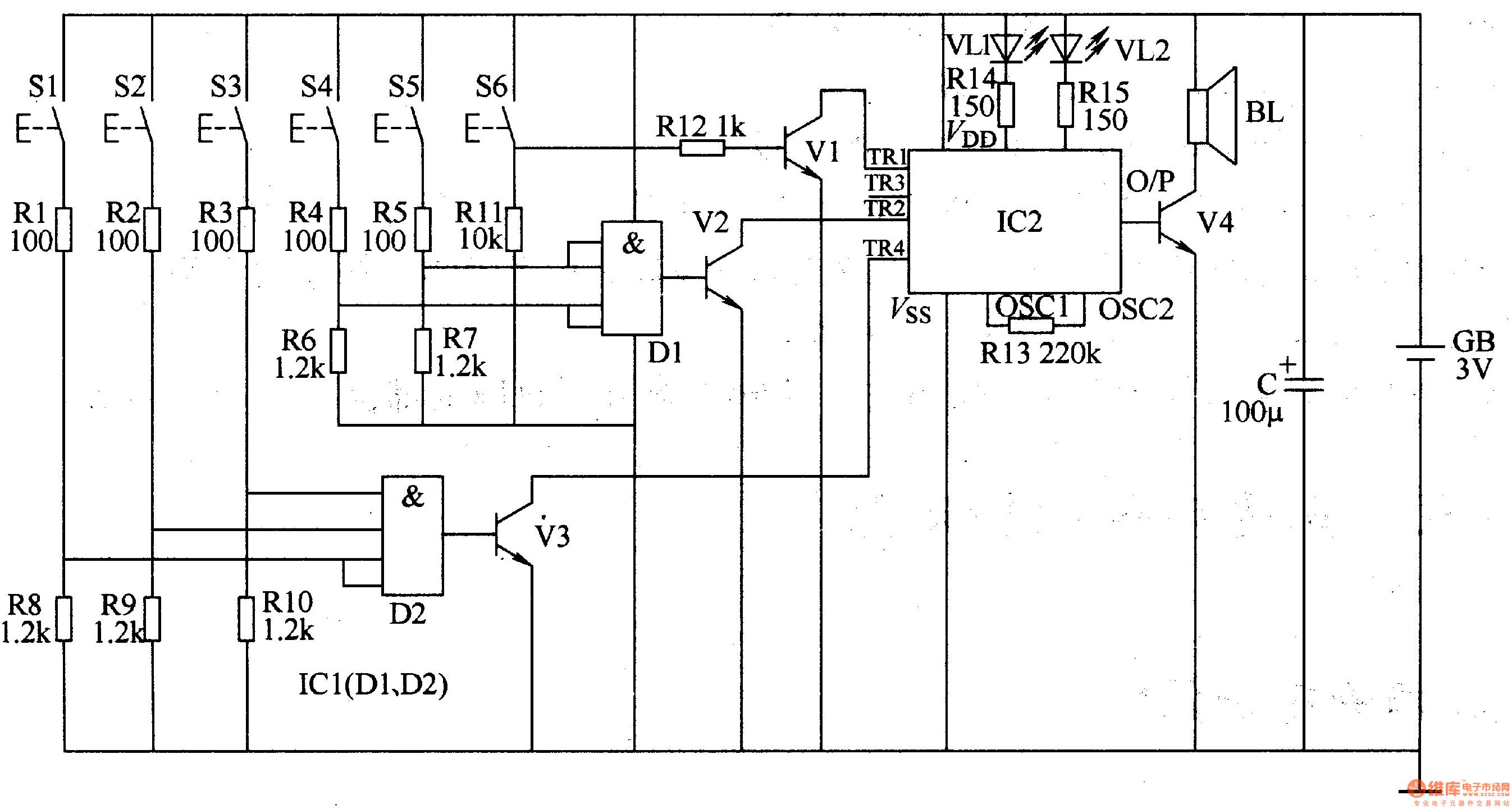 Three Tone Electronic Doorbell 2 Electrical Equipment Circuit 0124vat1a Powersupplycircuit Diagram Seekiccom