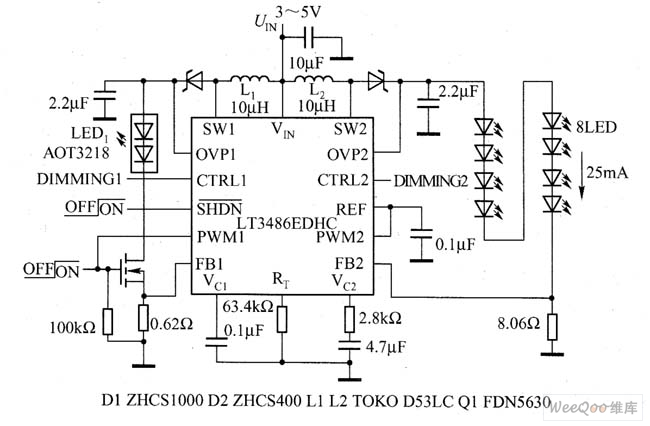the drive led typical application circuit