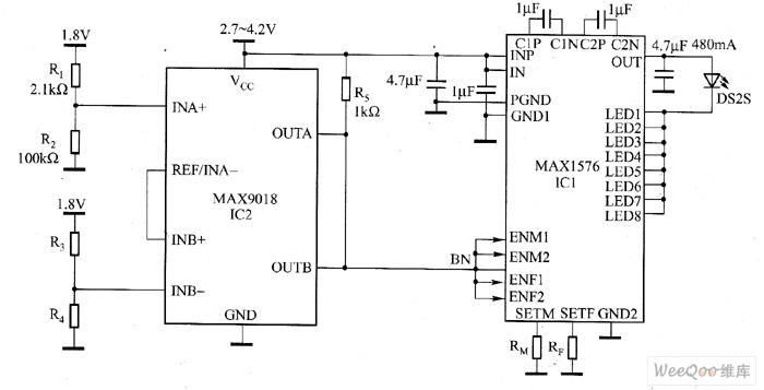 max1576 high power white led driver circuit diagram led. Black Bedroom Furniture Sets. Home Design Ideas