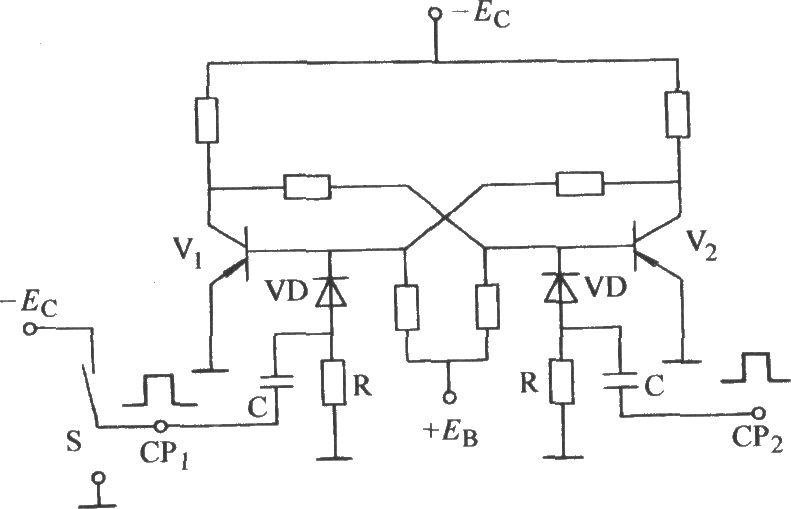 bistable unilateral touching switch circuit - analog circuit - basic circuit