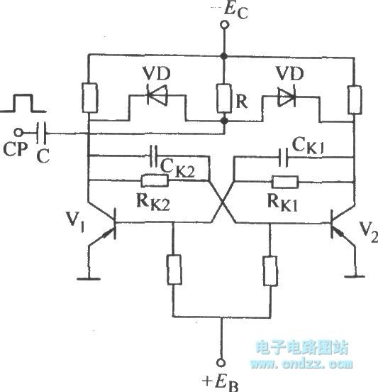 bistable counting collector trigger circuit