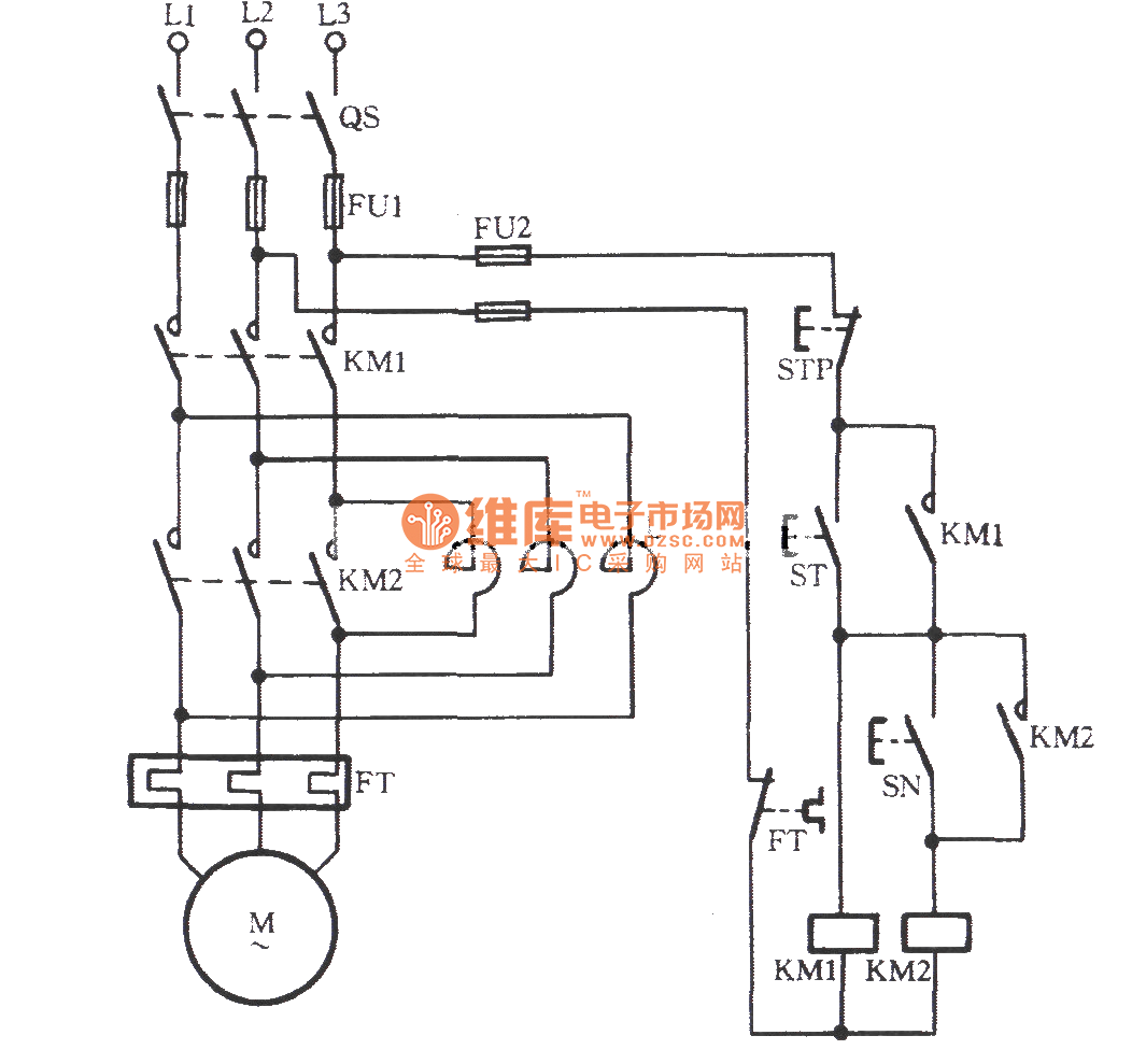 Manually series reactance starting three phase motor for 3 phase motor starter circuit