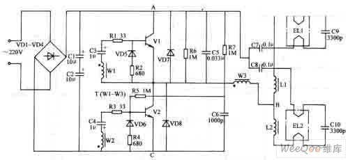 electronic ballast circuit diagram for fluoresent lamp - electrical equipment circuit