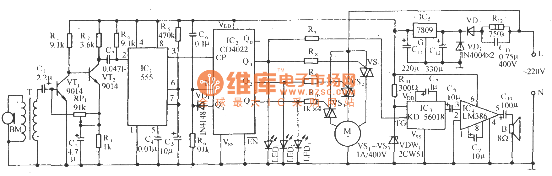 Sound Control Electric Fan Speed Governing And The Cricket Voice Heartratemonitor Controlcircuit Circuit Diagram Seekic
