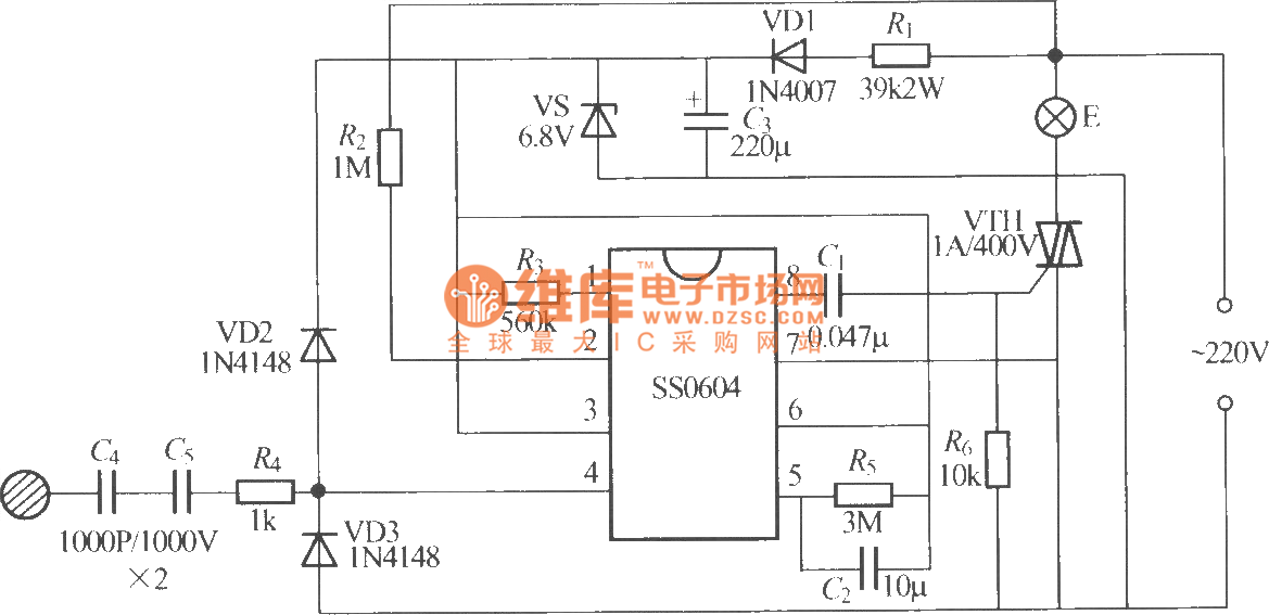 ss0604 touching stepping dimmer circuit diagram rh seekic com