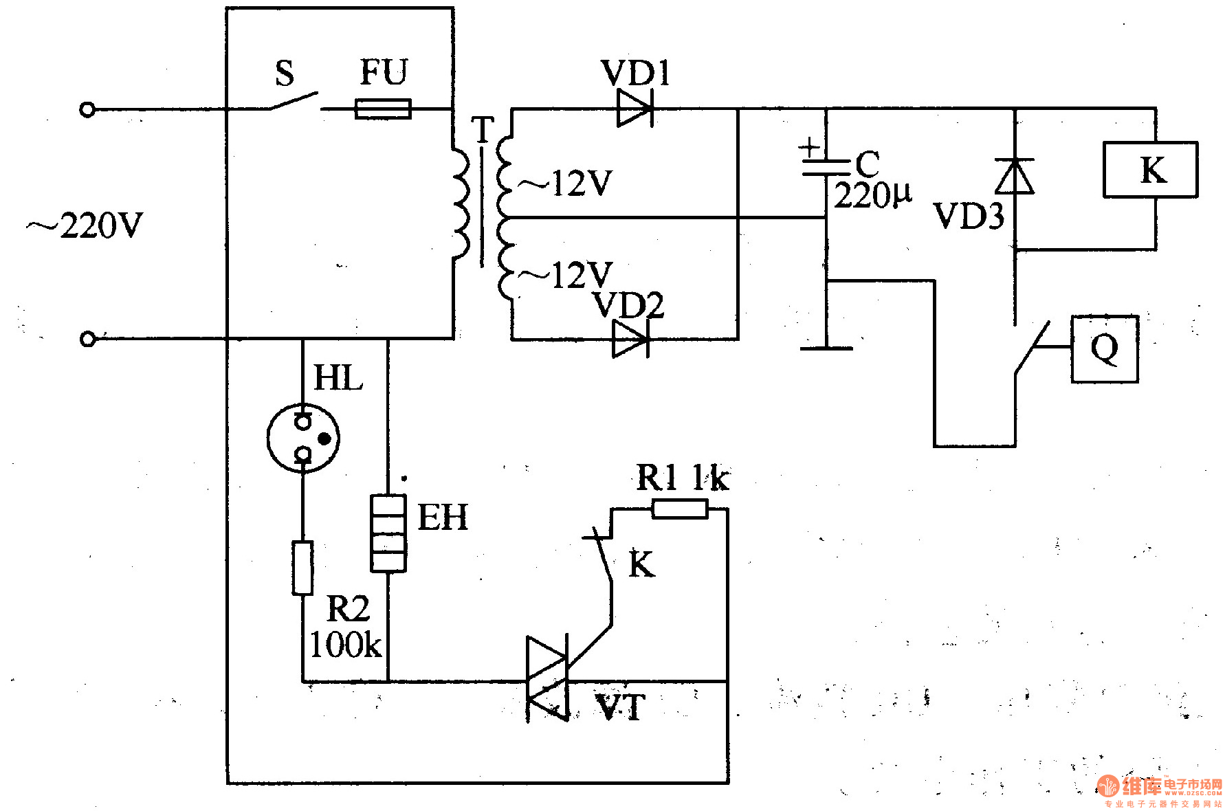 electric oven circuit diagram