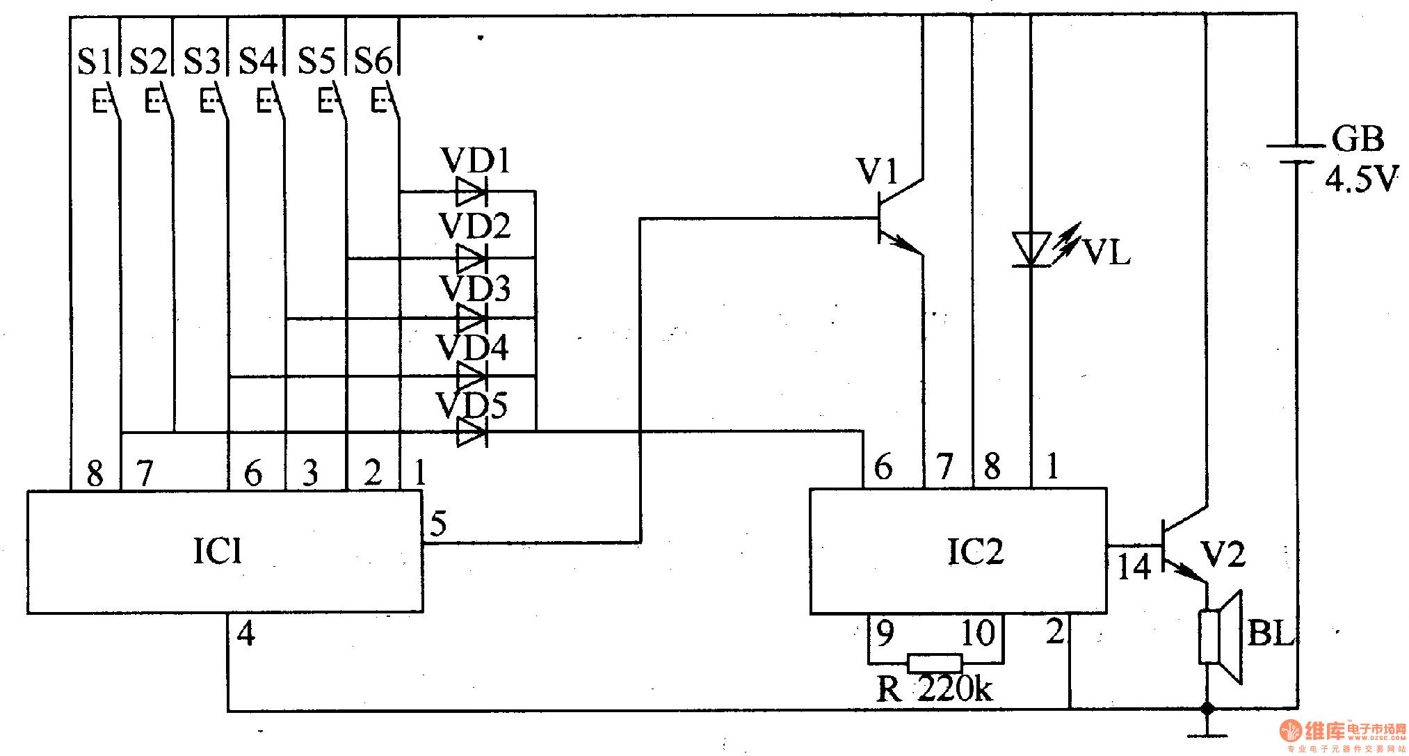 Password Electronic Doorbell 1 Electrical Equipment Circuit Discostrobelight Ledandlightcircuit Diagram Seekic