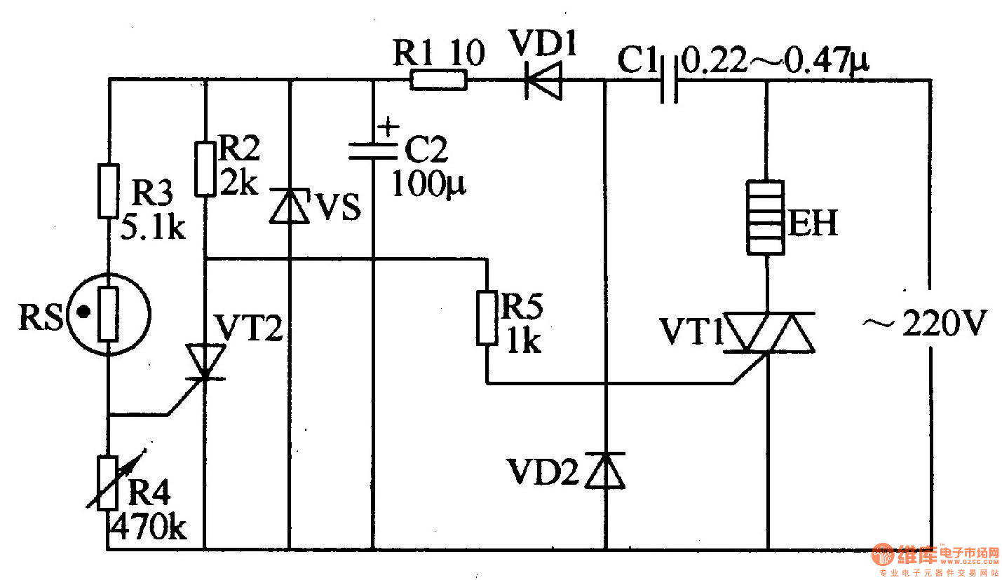 water power off and open controller - control circuit - circuit diagram
