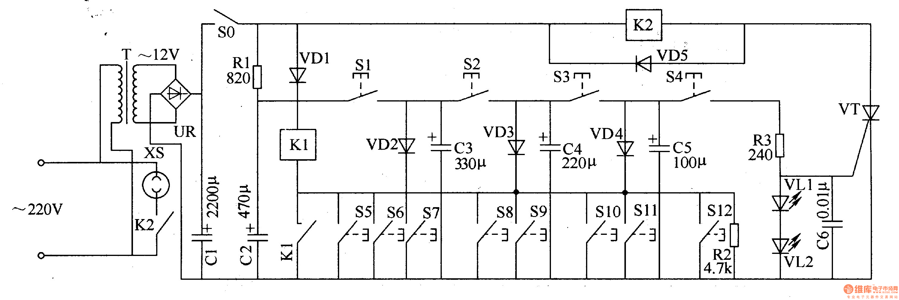 Digital Lock 6 Electrical Equipment Circuit Diagram Relay Power Locks S10