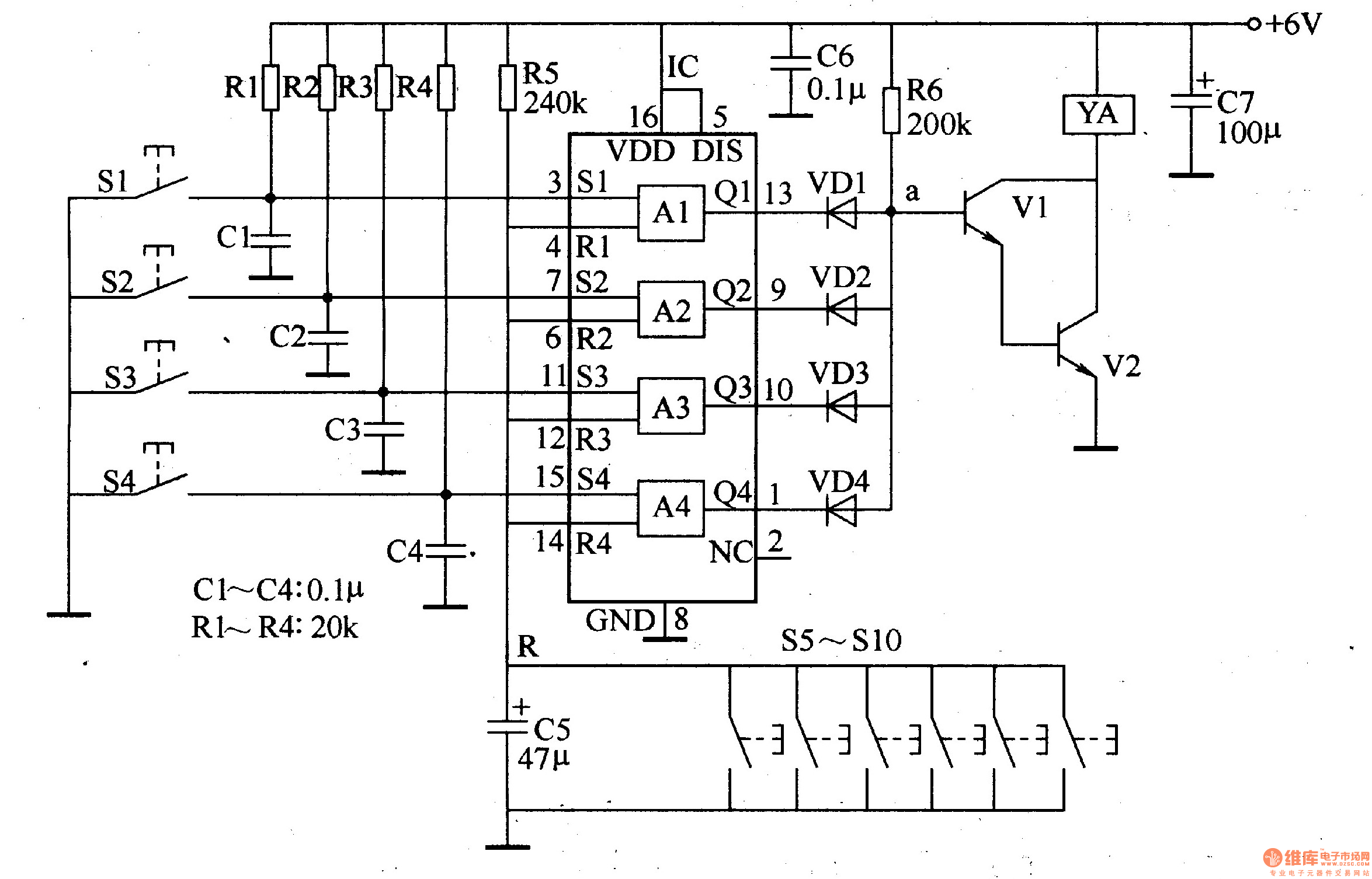 Digital Lock 8 Electrical Equipment Circuit Diagram Wwwseekiccom Circuitdiagram Basiccircuit Biquadnotchfilterhtml