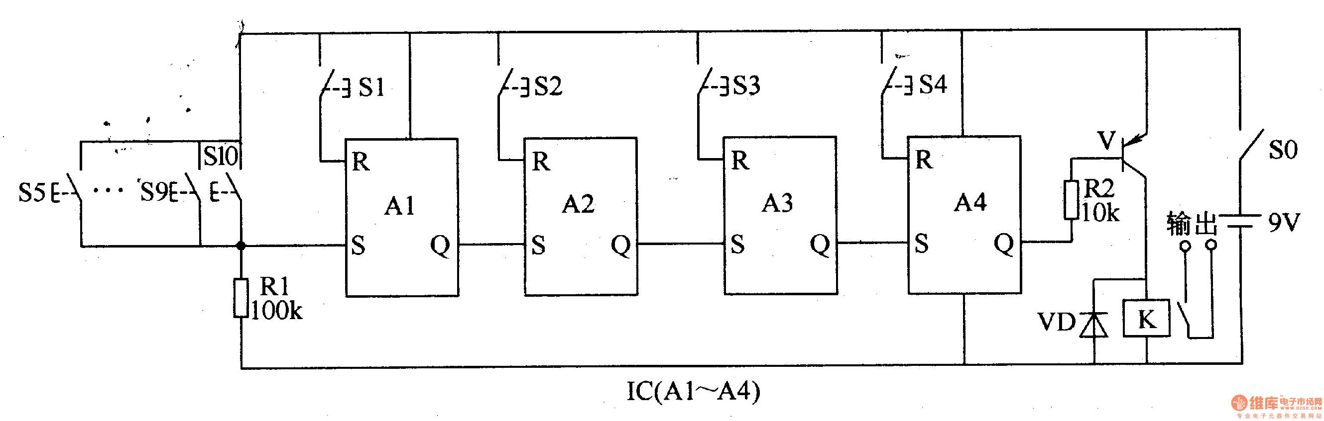Digital Lock 2 - Electrical Equipment Circuit