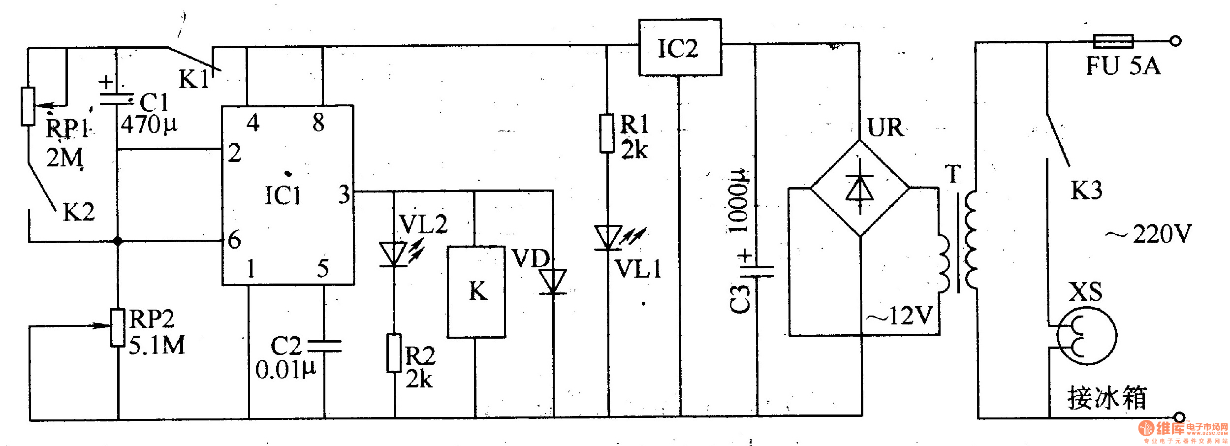 cycle timing controller 2 - time control - control circuit - circuit diagram