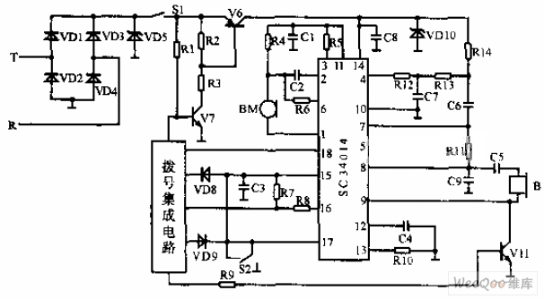 bipolar telephone circuit diagram - telephone-related circuit
