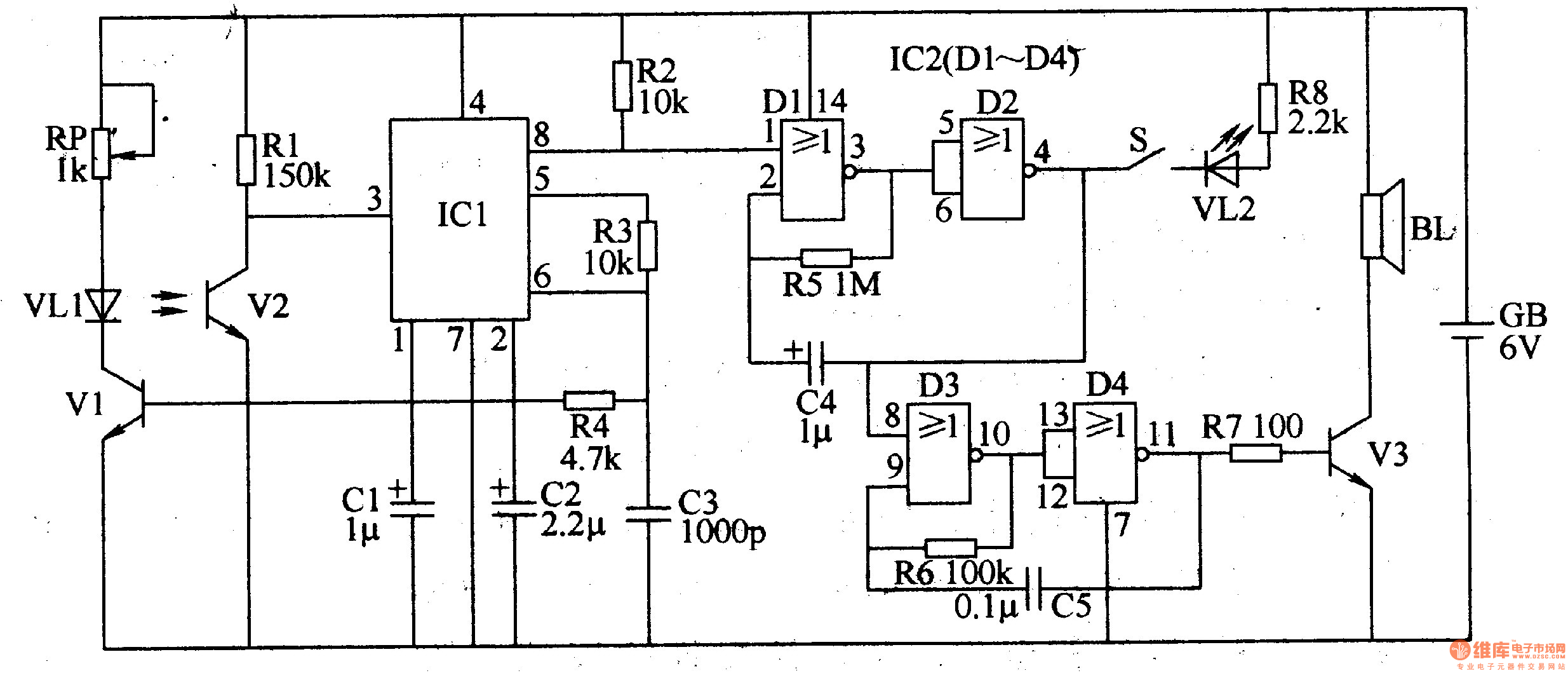 Infrared Reflectance Electronic Doorbell Circuit Diagram Of Door Bell