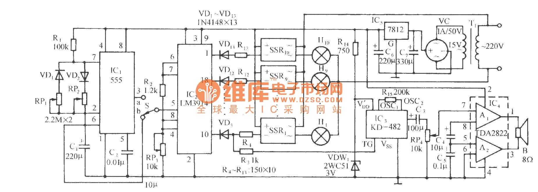Magic Lantern Control Circuit Lm3914 Relaycontrol Controlcircuit Diagram Seekic