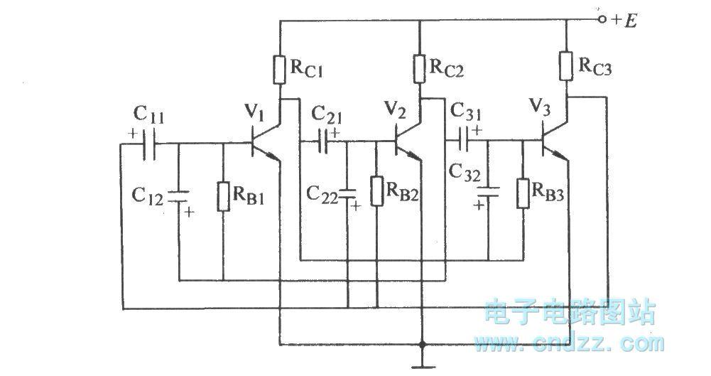 three-tube astable circuit 2 - basic circuit