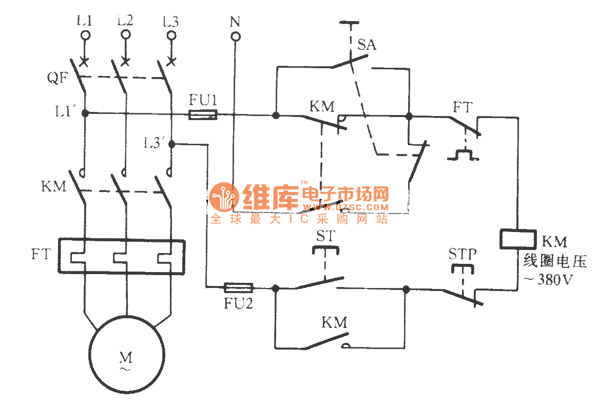 ac contactor power saving noiseless operation circuit 3 basic circuit circuit diagram