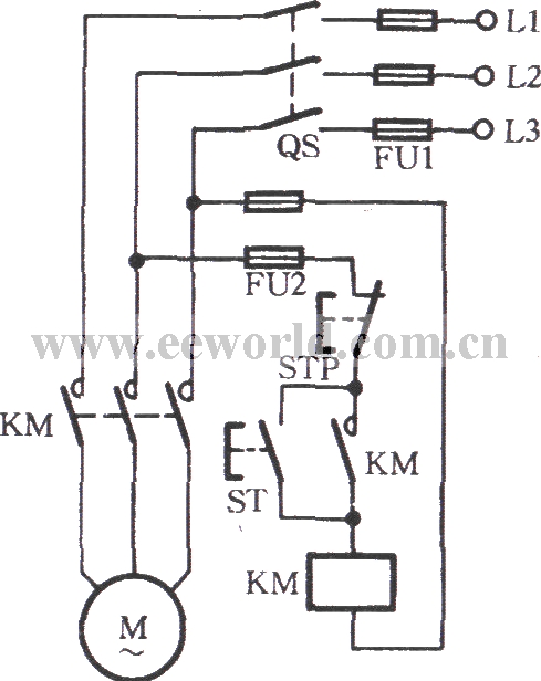 contactor self locking operation circuit basic circuit circuit diagram seekic