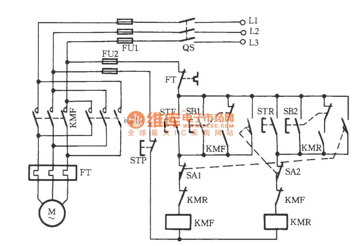Automatic Reversing Circuit Of The Phase Electromotor With Basictriacswitches Controlcircuit Diagram Seekiccom Inching Switch