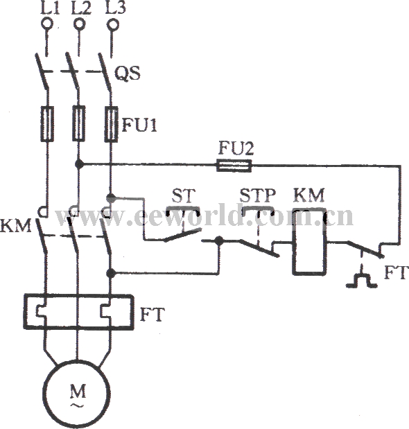 the emergency circuit of the ac contactor with the damaged auxiliary contact