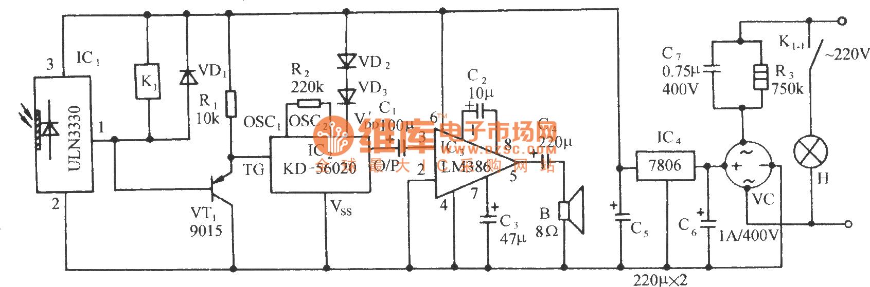 insufficient light automatic turn on bird sound circuit rh seekic com