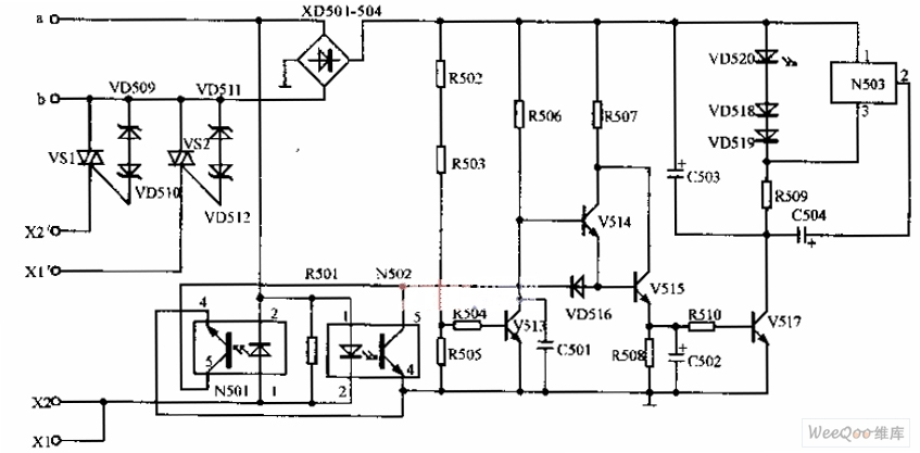 anti-toll-fraud circuit diagram - telephone-related circuit