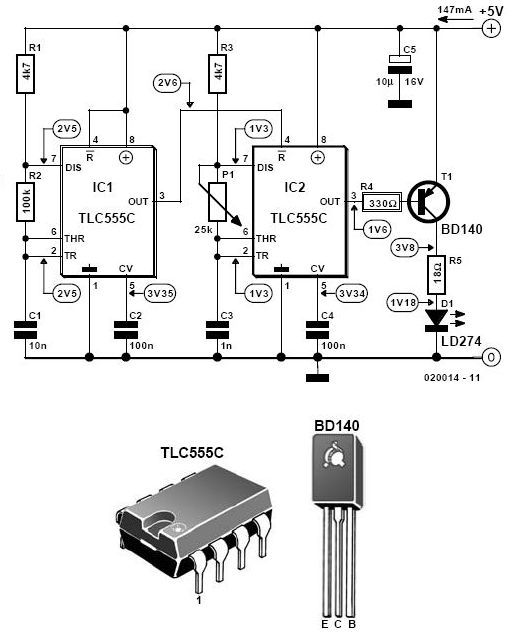 infrared alarm barrier circuit - control circuit