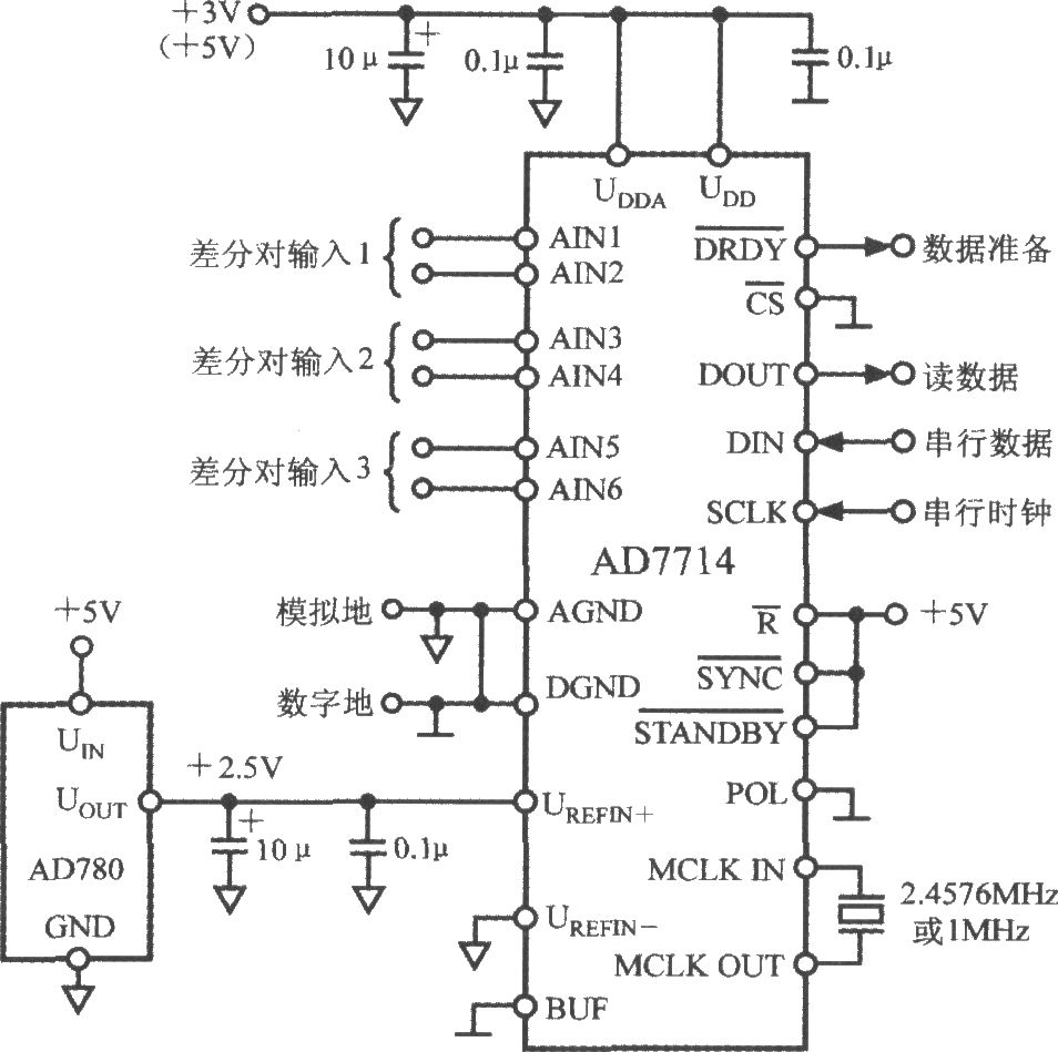 The Typical Application Circuit Of 5 Channel Low Power Combination Lock 11 Controlcircuit Diagram Seekiccom Programmable Sensor Signal Processor Ad7714