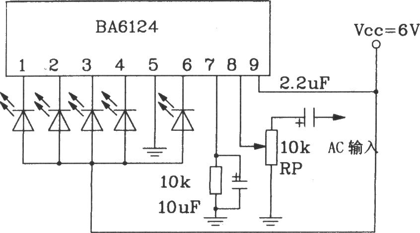 the basic application circuit of bl6124 5