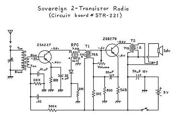 two transistor (boy's radio) schematic and theory of operation cb radio schematic diagrams at Radio Schematic Diagrams