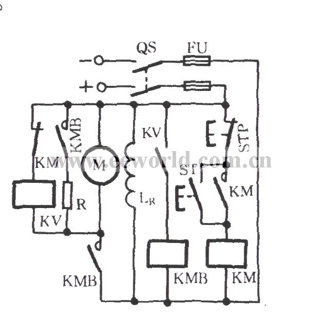 dc motor dynamic braking circuit - basic circuit - circuit diagram